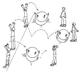 Taller De Balones Gigantes En Una Sesion De Educacion Fisica