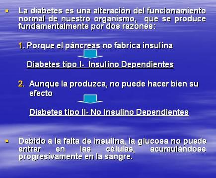 diabetes tipo 1 controlada por dieta y ejercicio