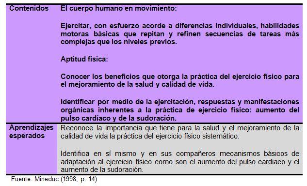 Análisis Del Concepto De Salud Y Sus Beneficios En El Sector De Educación Física Del Currículo Chileno