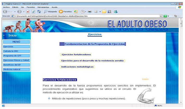página web adulto facial