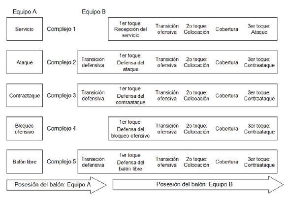 caracteristicas generales de los elementos del voleibol