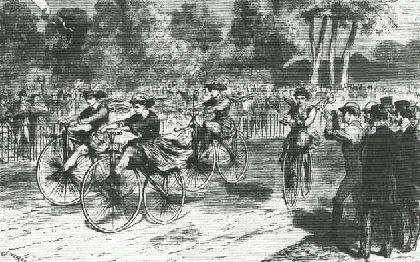 La difícil incorporación de la mujer española a la 'locura' velocipédica del siglo XIX
