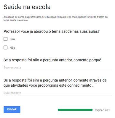 Figura 1. Questionário on-line aplicado aos professores