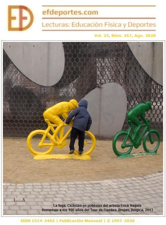 La fuga. Ciclistas en poliéster del artista Erick Nagels. Brujas, Bélgica, 2013