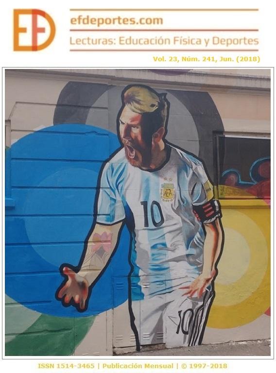 Messi en una pared del barrio de La Boca, Buenos Aires
